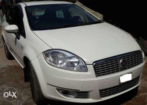 pearl white fiat linea new condtion top end model   Cozot Cars