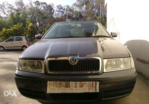 Skoda car with chandigarh number