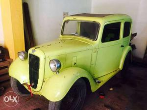 vintage Rubby Austin car with original paper & petrol