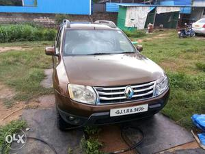 Corporate used  Gujarat reg DUSTER parked at Hyderabad
