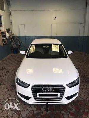 Audi A4 white  model