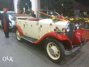 Antique, vintage, wedding car for rent