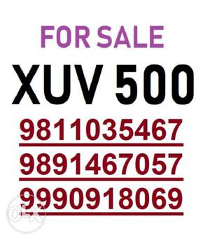 For Sale XUV 500...direct owner...in Anand Vihar...Brokers