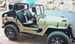 Fully loaded modified open jeep for urgent sale