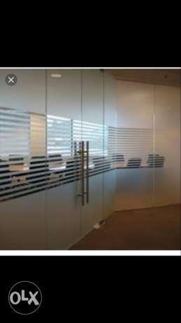 Glass film, per square feet