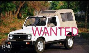 Maruti Suzuki Gypsy petrol 80 Kms