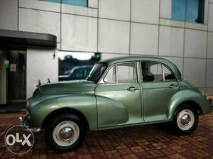 A beautiful vintage car restored and in a