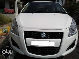 White color Diesel car Bangalore Registration Ritz VDi