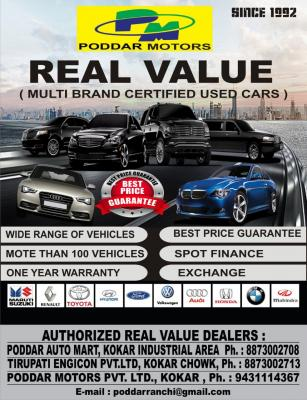 PODDAR MOTERS REAL VALUE CARS D - Ranchi (ranchi)