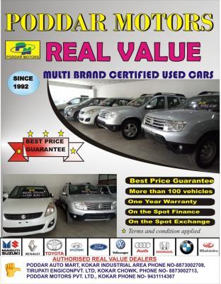 PODDAR MOTERS REAL VALUE CARS B - Kolkata (ranchi)